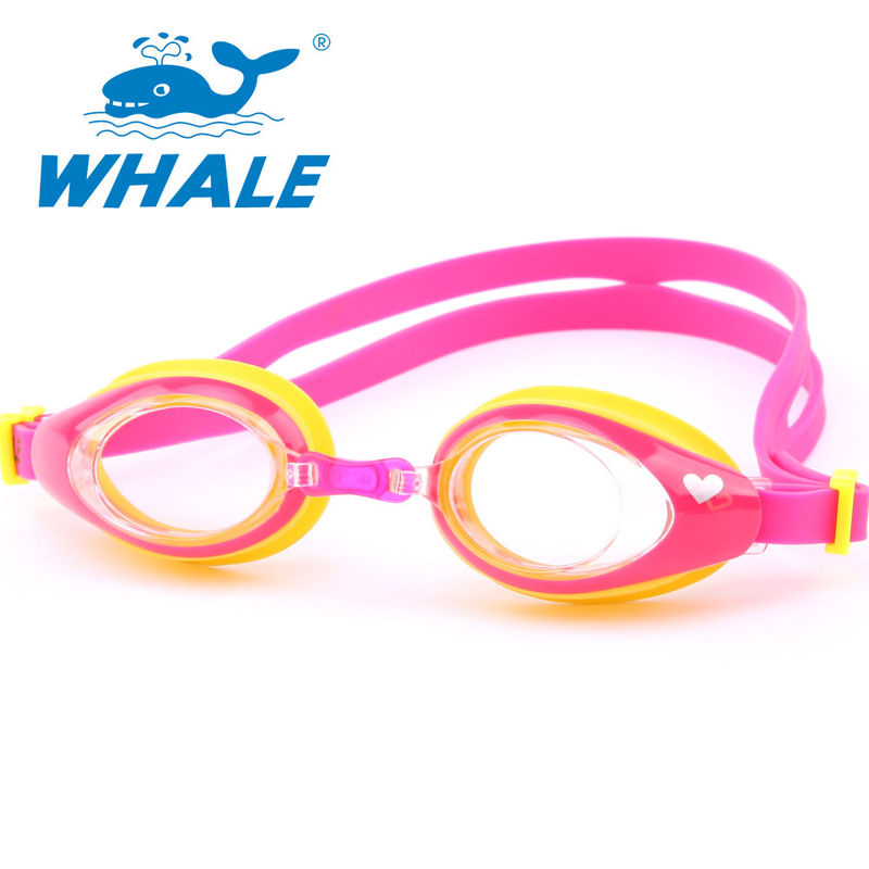 Shatterproof Silicone Swimming Goggles PC Material With Leak Proof UV Protection